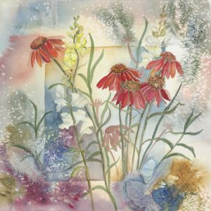 Red Cone Flower w Snapdragons