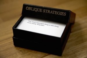 Oblique Strategy card deck