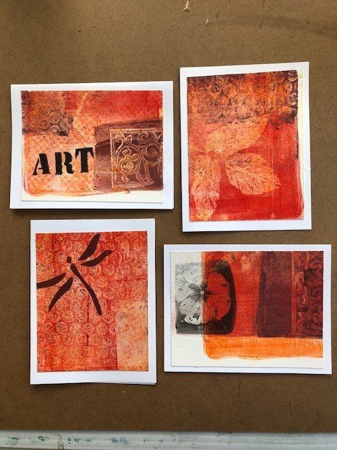Artscape Studio Kathy Grundei Gelli Print Cards