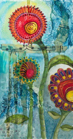 Artscape Studio Kathy Grundei Magic-Garden-IV-no-mated framed