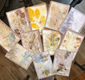 Artscape Studio Kathy Grundei eco-printed greeting cards