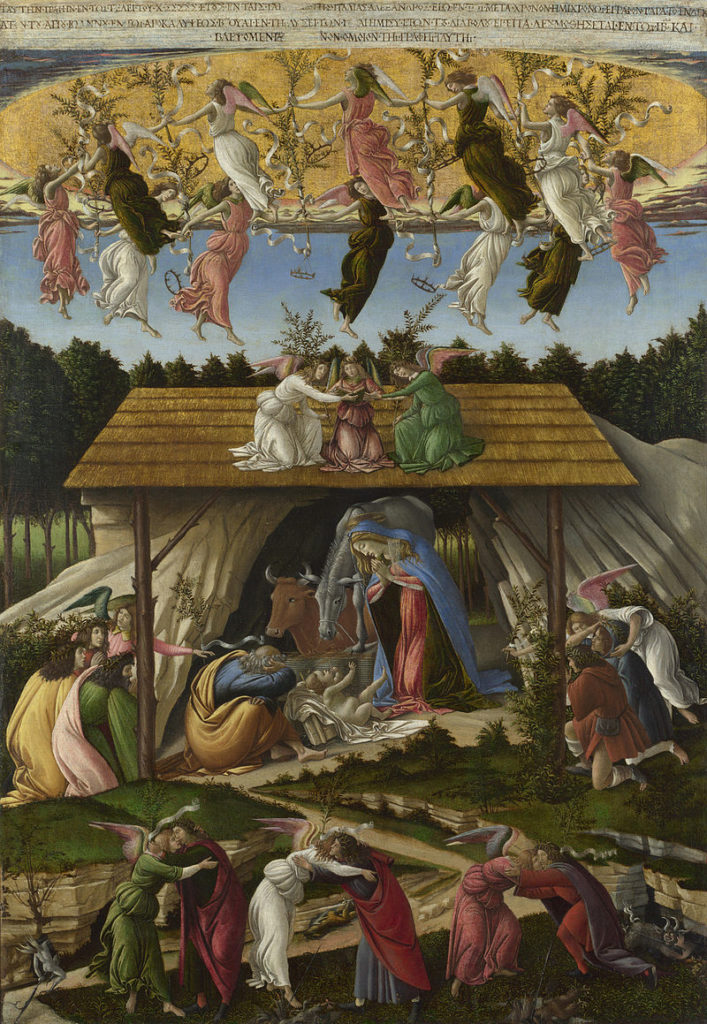 Mystic Nativity by Sandro Botticelli. Source: Wikipedia
