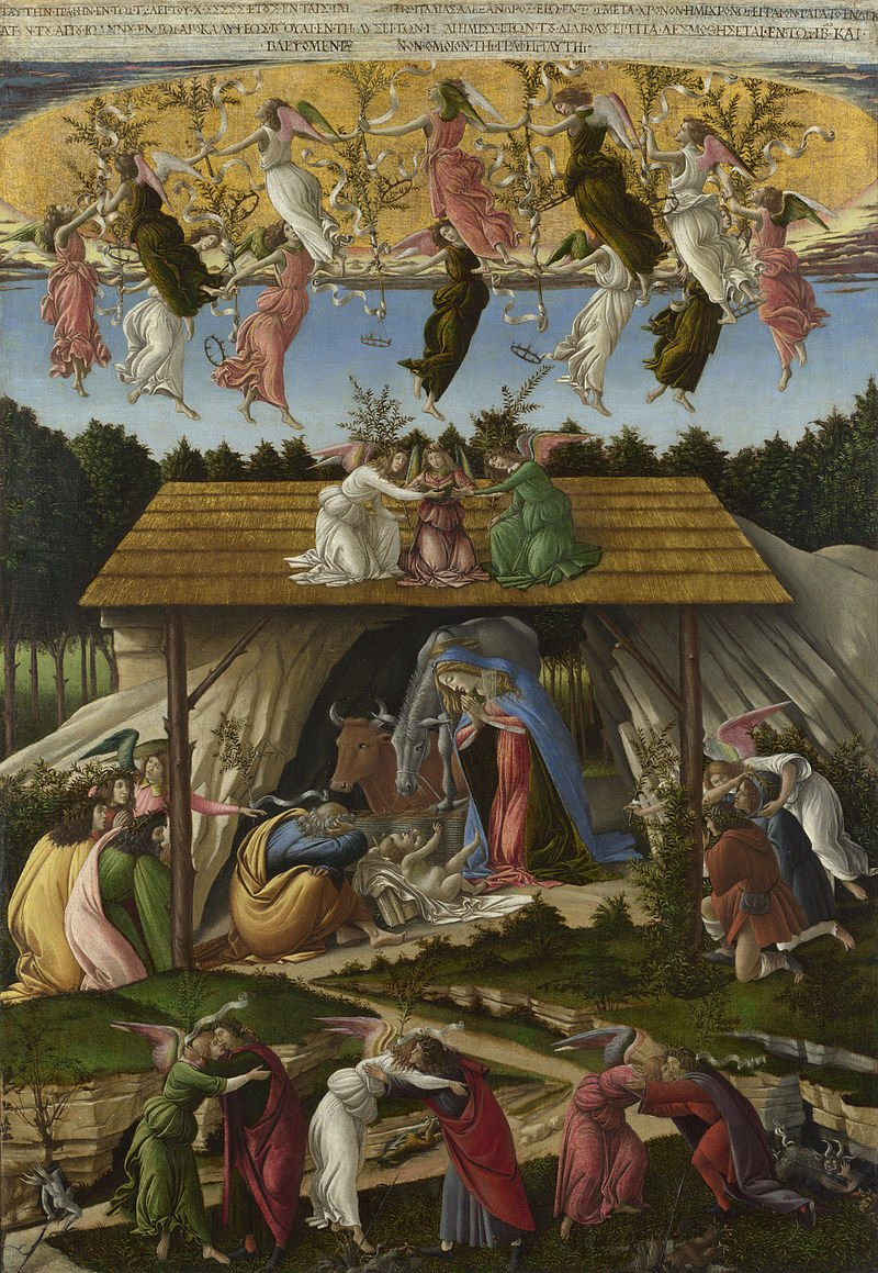 Mystic Nativityby Sandro Botticelli. Source:Wikipedia