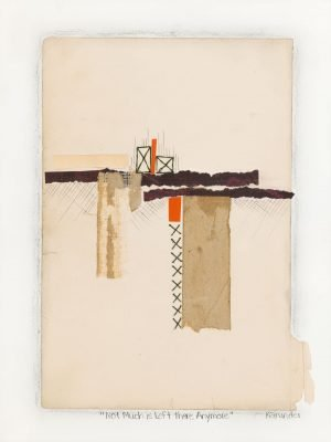 Deconstructed books, photos, thread, pencil